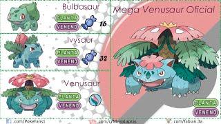 getlinkyoutube.com-Pokémon - Mega Evoluciones Primera Generación (FANART y OFICIALES)
