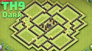 getlinkyoutube.com-Clash of Clans - Town Hall 9 (Th9) Dark Elixir Saving/Farming Base 2016 + Replays