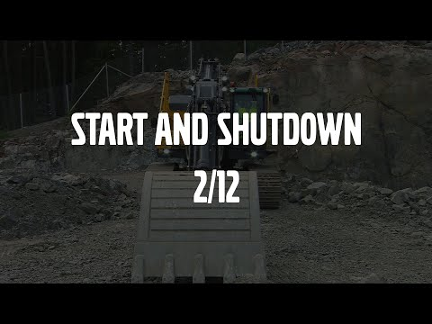 Start and shut down – Volvo Crawler Excavators E-series – Basic operator training – 2/12