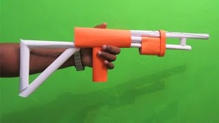 getlinkyoutube.com-How to make a Paper Gun that shoots 3 rubber bands - Easy Tutorials