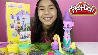 getlinkyoutube.com-Tuesday Play-Doh  Rapunzel's Garden Tower With Sparkle Compound PlayDoh|B2cutecupcakes
