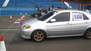 getlinkyoutube.com-Vios NCP42 - 1NZFE 140BHP at 1/4 mile