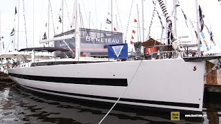 getlinkyoutube.com-2017 Beneteau Yacht 62 - Deck and Interior Walkaround - 2016 Annapolis Sailboat Show