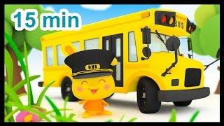 getlinkyoutube.com-Les roues de l'autobus - 15 min de comptines - Méli et Touni - Titounis