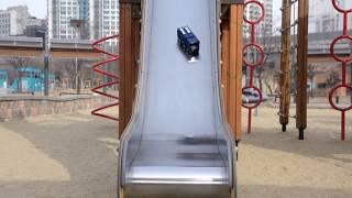 getlinkyoutube.com-카봇 펜타스톰 삼총사 마이티가드 로드세이버 미끄럼틀 장난감 놀이