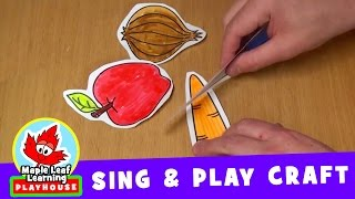 getlinkyoutube.com-Cut the Carrot | Sing and Play Craft for Kids | Maple Leaf Learning Playhouse