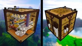 getlinkyoutube.com-Giant WORKING Crafting Table - (MCPE REDSTONE MAP)