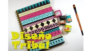 getlinkyoutube.com-[ESPECIAL DIY] Decora tu cuaderno con diseño TRIBAL