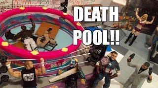 getlinkyoutube.com-GTS WRESTLING: Dead Pool 2! WWE Figure Matches Animation! Mattel Elite Action Figure Toys