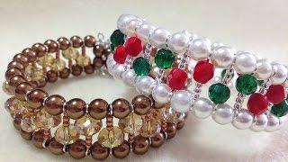 getlinkyoutube.com-(Tutorial) Opulent Christmas Bracelet (Video 111)