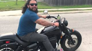getlinkyoutube.com-Harley Rider Trying Out My Honda Shadow Phantom