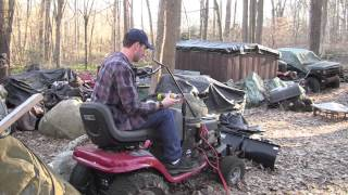 getlinkyoutube.com-Fix and start the snow plowing Craftsman DLT2000 tractor