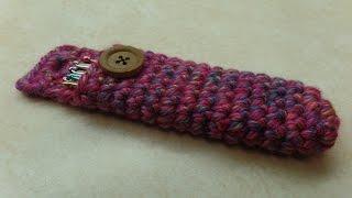 getlinkyoutube.com-CROCHET How to #Crochet Easy Crochet Hook Holder Carrier #TUTORIAL #307 LEARN CROCHET