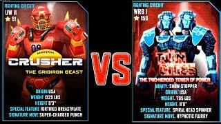 Real Steel WRB FINAL Crusher VS Twin Cities NEW Robot updating (Живая Сталь)