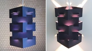 getlinkyoutube.com-DIY lamp for pendant light - learn how to make a lampshade/lantern for hanging lights - EzyCraft