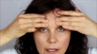 getlinkyoutube.com-How to Smooth Out Forehead & Frown Lines Glabellar Lines between the Eyes with Face Exercise