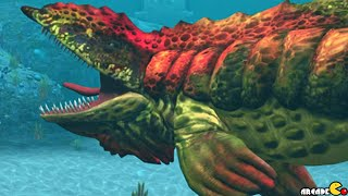 getlinkyoutube.com-Max KAPROSUCHUS And Aquatic Lagoon Species - Jurassic World The Game