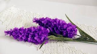 getlinkyoutube.com-Lavender paper flower tutorial - Làm hoa oải hương bằng giấy