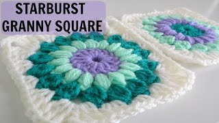 getlinkyoutube.com-How to Crochet a Starburst Granny Square