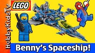 Benny's Spaceship Spaceship Spaceship LEGO Movie 70816 Emmet and Spider-Man HobbyKidsTV