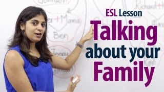 getlinkyoutube.com-How to talk about your family? - English Lesson ( Free ESL Lessons)