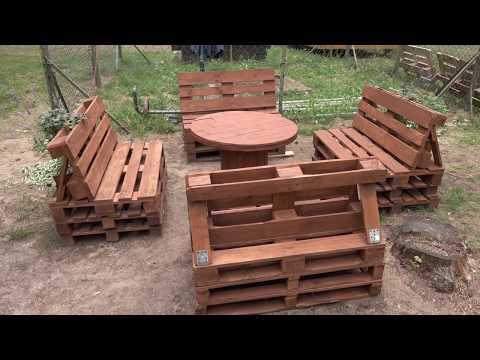 Cum sa faci mobila de gradina din paleti