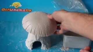 getlinkyoutube.com-Домик-гриб из гипса своими руками без спец. инструментов и форм.