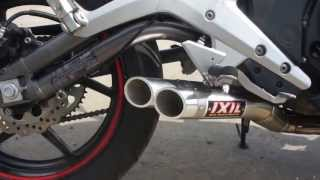 Kawasaki ER6N 2012 with Exhaust Ixil Hyperlow XL Dual Exit Full Race system. Москва.