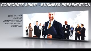 getlinkyoutube.com-Corporate Spirit - Business Presentation, After Effects Project