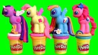 PLAY DOH My Little Pony Crie e Decore seus Pôneis TOYSBR | Play Doh Make 'N Style Ponies MLP