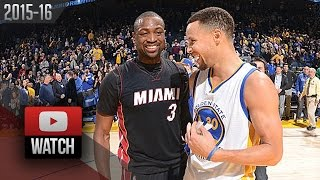 getlinkyoutube.com-Stephen Curry vs Dwyane Wade DUEL Highlights (2016.01.11) Warriors vs Heat - SICK!