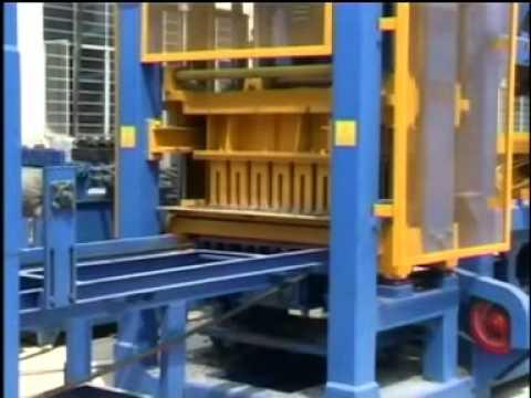 Maquina Automática para fazer bloco de concreto QT4-15D Chinesa