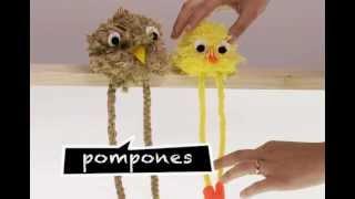 getlinkyoutube.com-¿Cómo hacer muñecos de pompones?