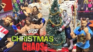 getlinkyoutube.com-GTS WRESTLING: CHRISTMAS CHAOS! WWE Mattel Figure Matches Animation PPV Event