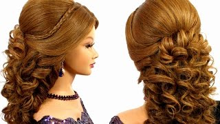 getlinkyoutube.com-Romantic wedding prom  hairstyle for  long hair.