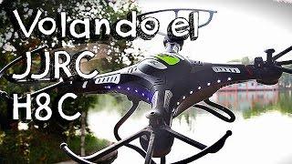 getlinkyoutube.com-VOLANDO EL JJRC H8C - DRONE EN ESPAÑOL: ¿El Syma killer y mejor drone calidad precio?