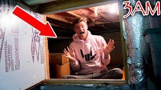 3AM CHALLENGE IN HAUNTED SECRET ROOM!! width=