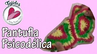 getlinkyoutube.com-Pantufla psicodélica a crochet ~ Tutorial