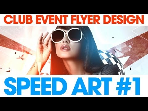 Club Event Flyer Design - Photoshop Speed Art #1