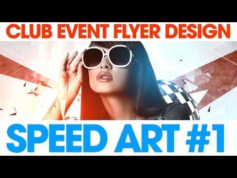 Club Event Flyer Design - Photoshop Speed Art #1