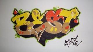 getlinkyoutube.com-TUTO : Apprendre le graffiti ! # by Alex Graff [HD]