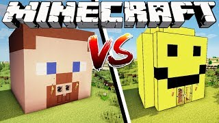 MINECRAFT HOUSE VS ROBLOX HOUSE - Minecraft