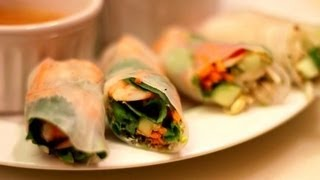 SPRING ROLLS w/ peanut sauce: make your own