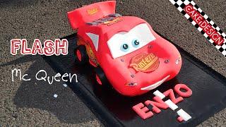 getlinkyoutube.com-Gâteau Cars - Flash Mcqueen cake - Cake Design