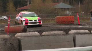 Mitsubishi Evo Global RallyX 2011 Seattle -Twin Peaks