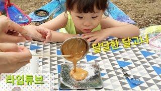getlinkyoutube.com-엄마랑 추억의 달고나 만들기 식완 간식 Korean Sugar Candy 'Dalgona'  라임튜브