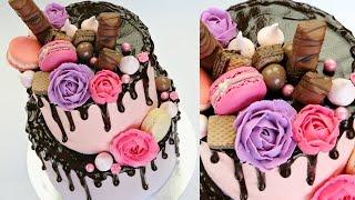 getlinkyoutube.com-CAKE TREND ~ Chocolate Drip Decorating Tutorial - CAKE STYLE