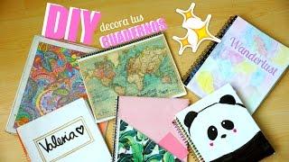 getlinkyoutube.com-DIY - 6 ideas fáciles para decorar tus cuadernos! ♡