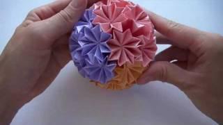 getlinkyoutube.com-Кусудама супершар оригами