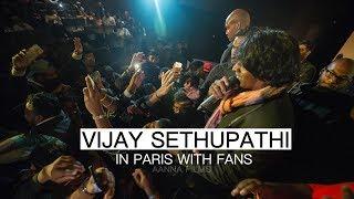 Junga Shooting | IN PARIS | VIJAY SETHUPATHI | WITH FANS | film Vikram Vedha